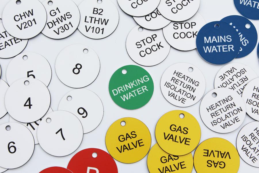 Gas Valve Tags & Discs